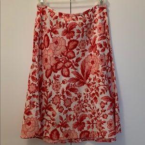 Ann Taylor loft petite floral skirt